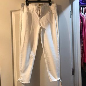 Democracy white pants size 14 with tie at bottom
